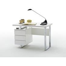 MCA furniture Sydney Office Schreibtisch mit drei Schubkästen in hochglanz weiß