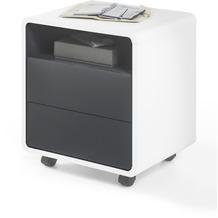 MCA furniture Tadeo Büro Rollcontainer in weiß mit 2 Schubkästen und 1 offenen Fach