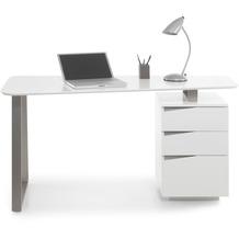 MCA furniture Tori Schreibtisch weiß 3 Schubkästen 150 x 76 x 67 cm