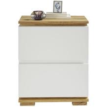 MCA furniture Tunis Nachtkonsole weiß 2 Schubkästen 48 x 59 x 40 cm