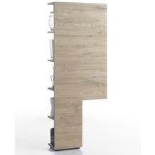 MCA furniture Vicenza Regal mit 5 offenen Fächer, Eiche NB