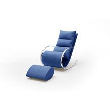 MCA furniture York Relaxer mit Hocker rot 67 x 111 x 102 cm
