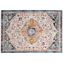 me gusta Teppich Anouk 1025 Weiß / Blau 120 x 170 cm