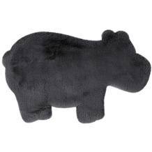 me gusta Kinderteppich Lovely Kids 325-Hippo Anthrazit 55 x 90 cm