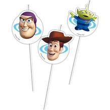 "PROCOS Medaillion-Trinkhalm mit Motiv ""Toy Story 3"", flexibel, 6 Stück"