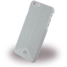 Mercedes-Benz Pure Line Peforated Leder Hard Cover/ Case/ Schutzhülle - Apple iPhone 6 Plus/6s Plus, Grau