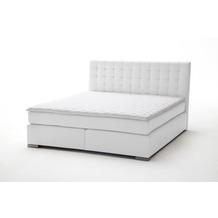 meise möbel Boxspringbett ISA Weiß Härtegrad H3 160x200 cm