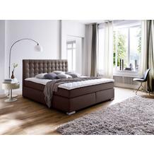 meise möbel Boxspringbett LENNO Braun Härtegrad H2 160x200 cm