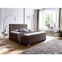 meise möbel Boxspringbett LENNO Braun Härtegrad H3 160x200 cm