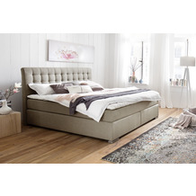 meise möbel Boxspringbett LENNO Hugo 1 beige Härtegrad H2 160x200 cm