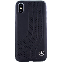 Mercedes-Benz Bow I, Leder Hardcover, Apple iPhone X, XS, Schwarz
