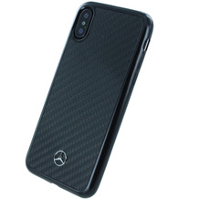 Mercedes-Benz Mercedes Benz, Carbon Hardcover, Apple iPhone X, Schwarz