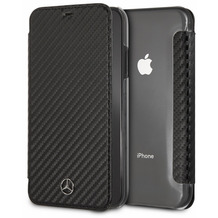Mercedes-Benz Mercedes Benz, Dynamic, Carbon Book Cover, Apple iPhone XR, Schwarz