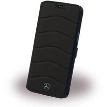 Mercedes-Benz Mercedes Benz - Wave III - Leder Book Cover - Samsung Galaxy S8 Plus - Schwarz