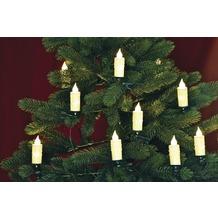 merxx 20er LED Kerzenkette, von innen beleuchteter Schaft mit insgesamt 40 LED, innen