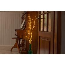 merxx 3er Dekozweige, mit 80er LED, weiß, außen