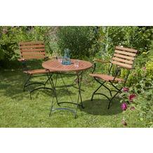 merxx Schlossgarten Set 3tlg., Sessel & runder Tisch