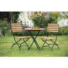merxx Schlossgarten Set 3tlg., Stühle & runder Tisch