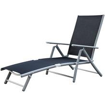 merxx Deckchair, schwarz Gartenliege Sonnenliege