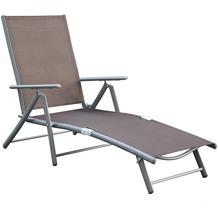 merxx Deckchair, taupe Gartenliege