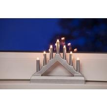 merxx LED Leuchter, 7- flammig, 3 x AA', 15,5x12 cm, innen, Silber