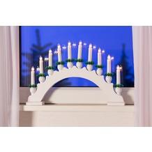 merxx Leuchter, 10-flammig, Holz, weiß, innen