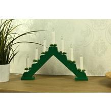 merxx Leuchter, 7-flammig, Holz, mit nachgewiesener Holzherkunft, grün