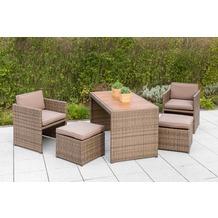 merxx Gartenmöbelset Merano Natur 11tlg. mit Tischplatte aus Akazienholz