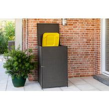 merxx Mülltonnenabdeckung 76 x 76 x 123 cm, grau Stahlgestell mit Kunststoffgeflecht