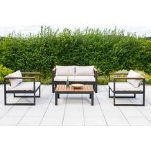 merxx Mykonos Lounge Set, 2er Bank Gartenlounge