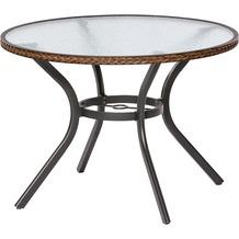 merxx Ravenna Tisch, rund, Ø 100 cm, Schoko