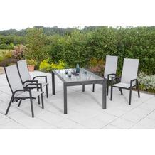 merxx San Remo Set 5tlg., Design AZ Tisch Gartenmöbelset