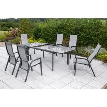 merxx San Remo Set 7tlg., Design AZ Tisch Gartenmöbelset
