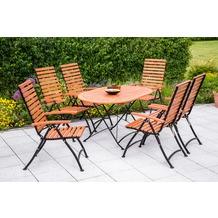 merxx Schlossgarten Set 7tlg., 5 Pos & ovaler Tisch