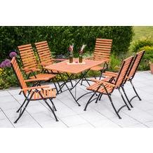 merxx Schlossgarten Set 7tlg., 5 Pos & rechteckigr Tisch