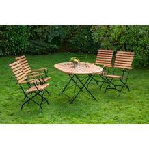 merxx Schlossgarten Set 5tlg., hoher Sessel & ovaler Tisch