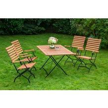 merxx Schlossgarten Set 5tlg., hoher Sessel & rechteckiger Tisch