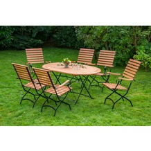 merxx Schlossgarten Set 7tlg., hoher Sessel & ovaler Tisch