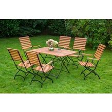 merxx Schlossgarten Set 7tlg., hoher Sessel & rechteckiger Tisch