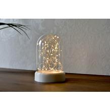 merxx Tischlicht, Glas mit 40er LED, 3 x AA Box, 11x17cm