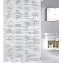 Meusch Duschvorhang Lightning Silber 180x200 cm