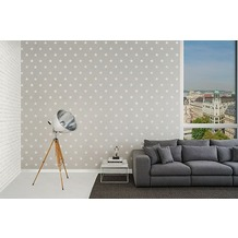Michalsky Living Mustertapete in Backsteinoptik High Rise Vliestapete metallic weiß 10,05 m x 0,53 m
