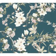 Michalsky Living Vliestapete Dream Again Tapete floral blau grün rosa 10,05 m x 0,53 m