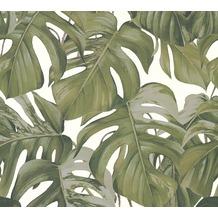 Michalsky Living Vliestapete Dream Again Tapete floral grau grün weiß 10,05 m x 0,53 m