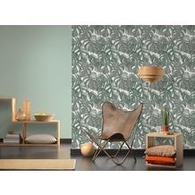 Michalsky Living Vliestapete Dream Again Tapete floral grün weiß grau 10,05 m x 0,53 m