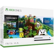 Microsoft Xbox One S 1TB Konsole + Minecraft incl. Explorer's Pack & Complete Adventure