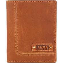 Mika Geldbörse Leder 10 cm cognac