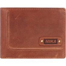 Mika Geldbörse Leder 12 cm cognac
