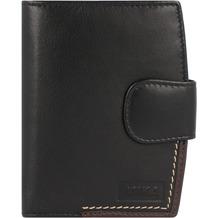 Mika Geldbörse Leder 9 cm schwarz