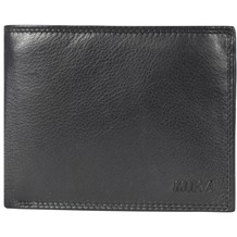 Mika Accessoires Geldbörse Leder 12,5 cm black